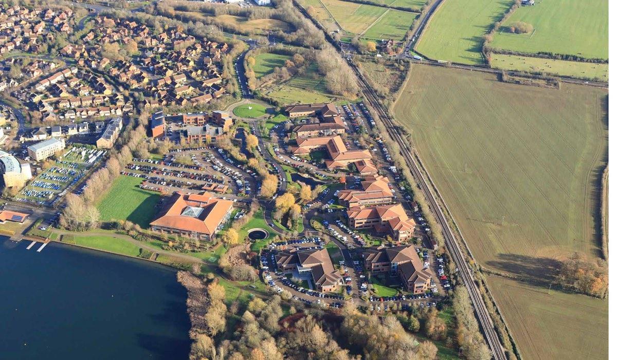 CLBP Aerial shot 2 002 - 3.1, Caldecotte Lake Business Park, Milton Keynes