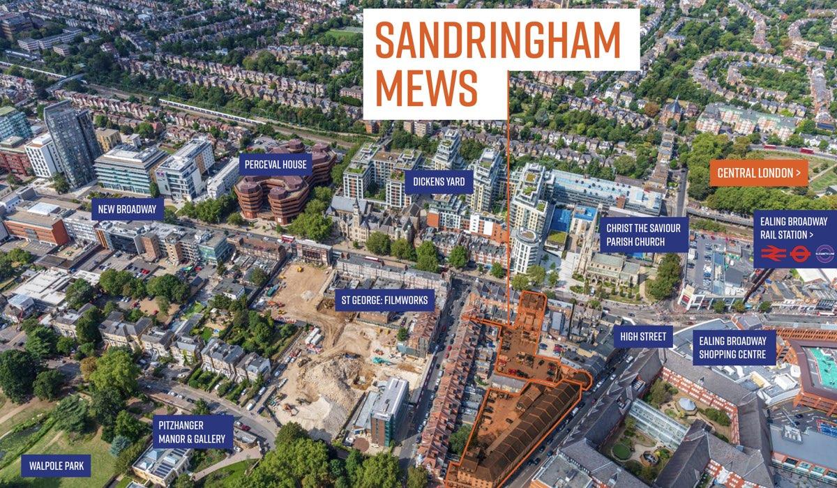 sandringham1 - Sandringham Mews, Ealing Green, 23-38 High Street, 15-19 New Broadway, Ealing, London W5