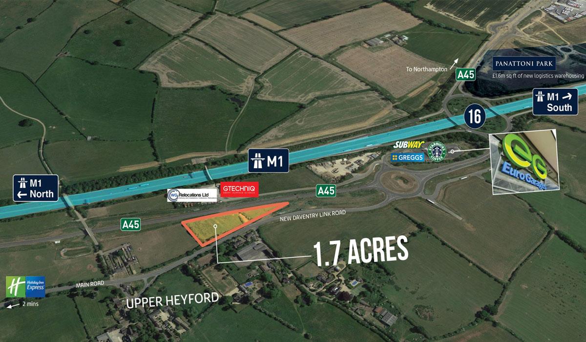 northampton land - Land at Zone 3 Bridge Business Park M1/JTN 16, Northampton, NN7 3FA